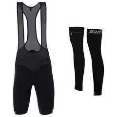 Santini H20 BeHot Eureka winter bib shorts + leg warmers kit 2017