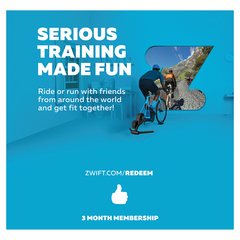 Zwift membership card subscription 2019