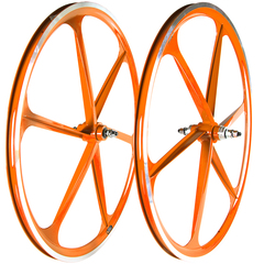 "Single speed 28"" 6 alloy spokes wheel"